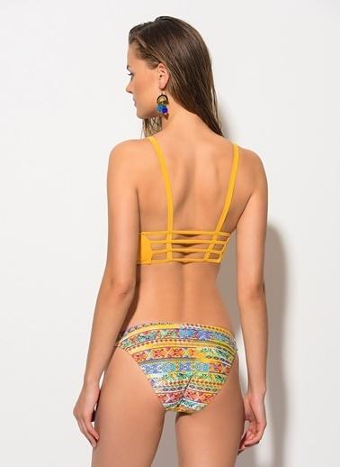 Dagi Yarım Üçgen Bikini Takım Sarı